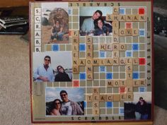 crafts with scrabble boards Scrabble Coasters, Scrabble Ornaments, Scrabble Tile Crafts, Scrabble Board, Scrabble Letters, Cardboard Letters, Cute Crafts, Crafts To Do, Diy Craft Projects