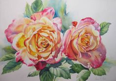 DONNA K READ Annas' Roses - watercolor