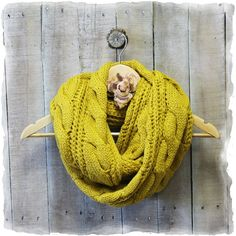 Scarf, Scarves, infinity scarf, scarves for women, scarves knit, CUDDLY CARDIGAN Mustard | SC31