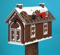 Gingerbread House Mailbox Woodcraft Pattern  from the winfield collection