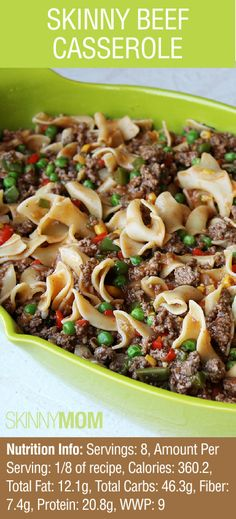 Haven't tried this Skinny Mom Beef Casserole yet? What are you waiting for?! A MUST HAVE RECIPE!