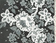 Beaded Metallic Chantilly Lace