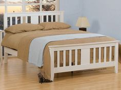Gere White Wooden Double Bed Frame Very high quality white wooden bedframe with a pure white finish Single Wooden Beds, Wooden King Size Bed, White Wooden Bed, Wooden Double Bed, Solid Wood Bed Frame, Wooden Bed Frames, Wood Beds, 4ft Beds, White King Size Bed