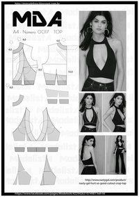 ModelistA ~ this actually could be layered over a light blouse for SummerMod@ en Line things sewing and Pattern making Fashion Sewing, Diy Fashion, Ideias Fashion, Diy Clothing, Sewing Clothes, Dress Sewing Patterns, Clothing Patterns, Costura Fashion, Modelista