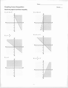 9 Best Graphing linear inequalities images | Graphing linear ...
