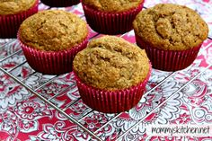 Mommy's Kitchen: Healthy Peanut Butter Banana Muffins