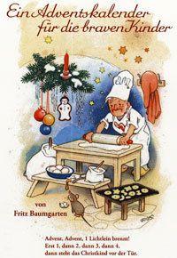 Adventskalender für die braven Kinder Nostalgischer Abreißkalender von Fritz Baumgarten