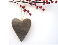 Rustic Valentines Day Decorations . Heart Ornament . rustic wedding decor . wood heart . personalized wedding gift . unique gift