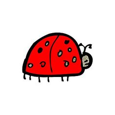 child's drawing of a ladybug