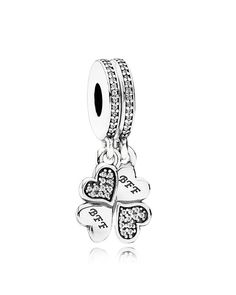 Pandora Charm - Sterling Silver & Cubic Zirconia Best Friends Forever, Moments Collection