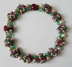 Exquisite Poured Gripoix Glass Rousselet France Necklace | eBay