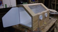 Benchtop Media Blasting Cabinet : 8 Steps (with Pictures) - Instructables Garage Cabinets, Diy Cabinets, Homemade Tools, Diy Tools, Bead Blaster, Sandblasting Cabinet, Diy Screen Printing, Make A Door, Woodworking Tools