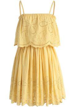 Tickle Me Picnic Embroidery Cotton Dress - New Arrivals - Retro, Indie and Unique Fashion