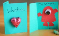 Fun monster valentines for kids by @Marie LeBaron -- super easy for little ones to help make!