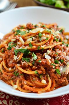 Slimming Eats Spaghetti Bolognese - gluten free, dairy free, vegetarian, paleo, Whole30, Slimming World and Weight Watchers friendly