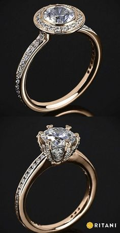 Learn about Rose Gold Engagement Rings at Ritani http://blog.ritani.com/