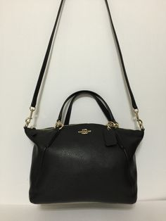 075ec0c974160 NWT Coach Small Black Kelsey Satchel In Pebble Leather F36675  295  159.0