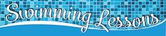 "Reminisce SWIMMING LESSONS 2"" x 10"" TITLE STICKER scrapbooking"