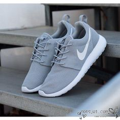Nike Roshe Run Grey Nike Roshe Run Grey White 2015 Womens Mens - Best Seller