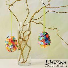 Vyrobte společně s dětmi barevná velikonoční vajíčka. | Davona výtvarné návody Quilling, Glass Vase, Crafts For Kids, Jar, Activities, Children, Home Decor, Bedspreads, Crafts For Children