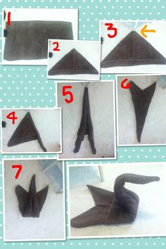Create A Cute Swan Out Of Bath Towel Using These 8 Steps Number 3 Is Pointing To Chair Leg Hold The In Place Make Rolling Ly Easier