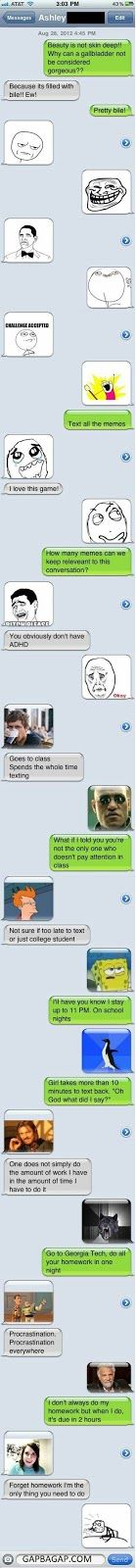 Funny Text About Memes