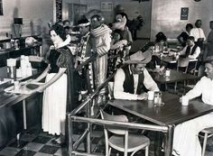 Employees at the Disneyland Cafeteria, 1961