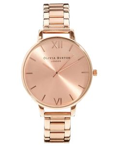 Olivia Burton Big Dial Rose Gold Bracelet WatchSearch for more Jewelry by ASOS on Wantering.