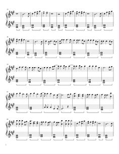Sheet music made by Kathleen Vy for Piano