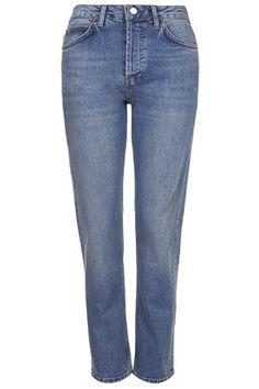MOTO Mid Blue Girlfriend Jeans