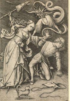 Israhel van Meckenem (um 1440-1503): Die wütende Ehefrau/