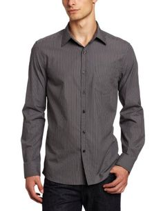 Amazon.com: Kenneth Cole Men's Double Pocket Tonal Stripe Shirt: Clothing