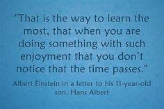 """Quote Of The Day: Albert Einstein On """"Flow"""""""