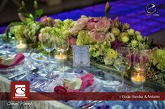 mesa de novios muy romantica