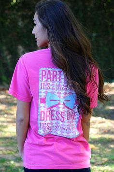 "Jadelynn Brooke ""Party Like Its Saturday"" Crunch Berry Tee from Stella Rae's"