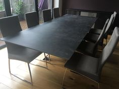 Modern Ceramic Top Extendable Dining Table With Verona Chairs In Microfibre Delivered To Our Client Surrey