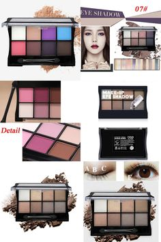 [Visit to Buy] Beauty 8 Color Brand Glitter Matte Eyeshadow Palette Makeup Eye Shadow Palettes Cosmetic With Brush #Advertisement
