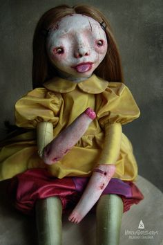 Horka Dolls, Klaudia Gaugier, spooky art dolls