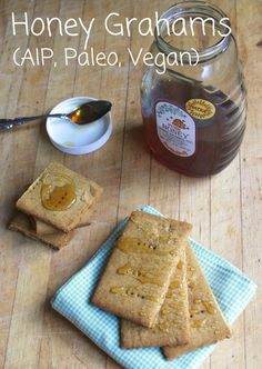 AIP friendly Honey Grahams (Coconut-free) Featuring Otto's Cassava Flour and Organic Gemini Tigernut flour!
