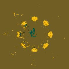 Anna Taberko is an artist based in Minnesota who creates mesmerizing animated loops featuring blooming floral elements.   More animated GIFs via Animation Port