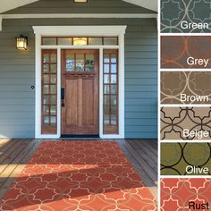 This indoor/ outdoor rug is the perfect addition for your patio or sunroom. Created to withstand the rigors of outdoor use, the colors and designs will add to the outdoor ambiance whether rain or shine.
