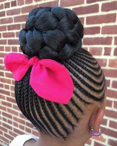 Cute braided up do for a Young girl. Very cute! #FollowMe