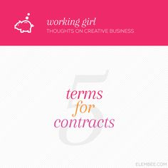 5 contract terms for creatives // Elembee.com