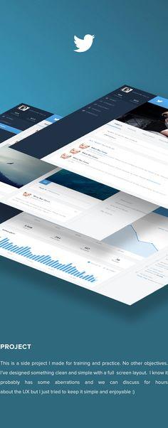 Twitter - Redesign of UI details by Grégoire Vella, via Behance