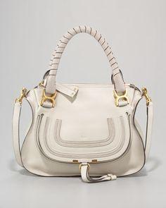 Small Marcie Shoulder Bag, Dove by Chloe at Bergdorf Goodman.