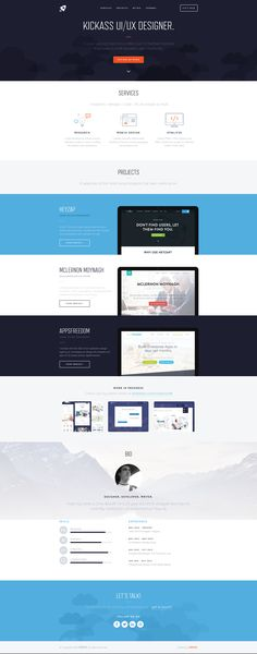 Tinyastro—one page portfolio of UK based designer Chris Braniff: