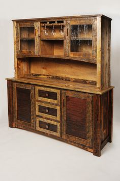 Buffet Hutch - handcrafted from reclaimed barnwood by Mortise + Tenon Woodworks in Bozeman, Montana.
