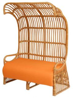 How do you describe this chair? Rattan 70's style chair. via Mrs. Lilien Blog