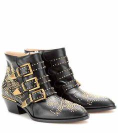 Susanna studded leather ankle boots | Chloé