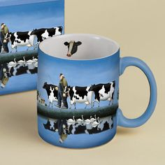 Lang Coffee Mug Delta Cows by Lowell Herrero Unique Coffee Mugs, I Love Coffee, Cow Kitchen, Kitchen Items, Cow Craft, Cow Mug, Cute Mugs, Mug Cup, Cool Artwork
